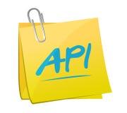 Diseño del ejemplo del concepto de la muestra de los posts de la nota del Api Fotos de archivo libres de regalías