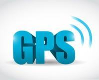Diseño del ejemplo del concepto de la señal de los Gps stock de ilustración