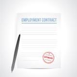 Diseño del ejemplo del contrat del empleo Fotos de archivo