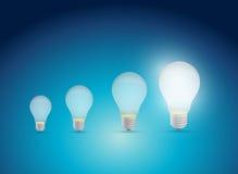 Diseño del ejemplo del gráfico de la idea de las bombillas Fotografía de archivo libre de regalías
