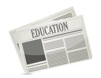 Diseño del ejemplo del hoja informativa de la educación Fotografía de archivo libre de regalías