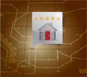 Diseño del ejemplo del indicador del localizador del restaurante Fotografía de archivo