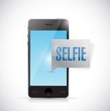 Diseño del ejemplo del mensaje del selfie del teléfono Fotografía de archivo libre de regalías