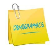 diseño del ejemplo del post-it del demographics ilustración del vector