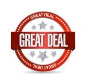 Diseño del ejemplo del sello de la gran oferta Foto de archivo libre de regalías