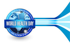 Diseño del ejemplo del sello del día de salud de mundo Imágenes de archivo libres de regalías