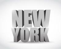 Diseño del ejemplo del texto de Nueva York 3d stock de ilustración