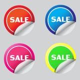 Diseño del ejemplo del vecter del icono de la etiqueta engomada de la venta Foto de archivo