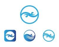 Diseño del ejemplo del vector de Logo Template del descenso del agua stock de ilustración