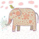 Diseño del elefante de la historieta Imagen de archivo libre de regalías