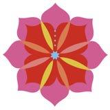 Diseño del emblema de la flor de Lotus Fotos de archivo libres de regalías