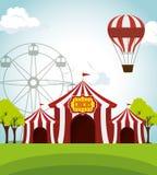 diseño del entretenimiento del funfair de las tiendas de circo ilustración del vector