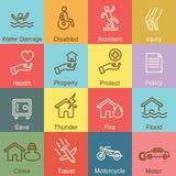 Diseño del esquema del seguro Imagen de archivo libre de regalías