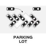 Diseño del estacionamiento de la visión superior Fotografía de archivo