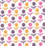 Diseño del estampado de flores Foto de archivo