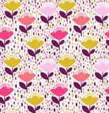 Diseño del estampado de flores foto de archivo libre de regalías
