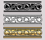Diseño del estilo de Vicrtorian Imágenes de archivo libres de regalías