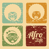 Diseño del estilo del Afro Imagenes de archivo