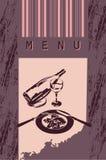 Diseño del estilo del menú Fotos de archivo libres de regalías