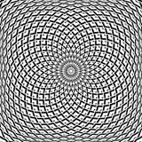 Diseño del extracto del arte de Op. Sys. Modelo convexo geométrico de la rotación stock de ilustración