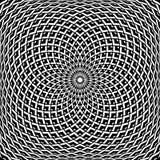 Diseño del extracto del arte de Op. Sys. Modelo convexo geométrico de la rotación ilustración del vector