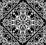 Diseño del extracto de la casilla negra blanca y stock de ilustración