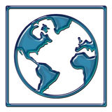 Diseño del extracto de la correspondencia de mundo Imagen de archivo libre de regalías