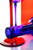 Diseño del extracto de la cristalería del vino Imagenes de archivo
