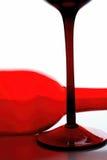 Diseño del extracto de la cristalería del vino Imagen de archivo libre de regalías