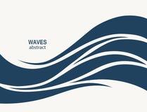 Diseño del extracto del logotipo de la onda de agua Logotipo c del deporte de la resaca de los cosméticos Foto de archivo
