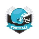 Diseño del fútbol americano Imagen de archivo