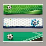 Diseño del fútbol de la bandera Imagenes de archivo