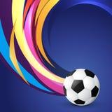 Diseño del fútbol del estilo de la onda Fotos de archivo libres de regalías