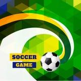 Diseño del fútbol del estilo de la onda Imagen de archivo