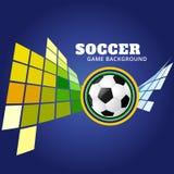 Diseño del fútbol del estilo de Mosiac Imagen de archivo