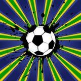 Diseño del fútbol del estilo del Grunge libre illustration