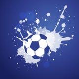 Diseño del fútbol del estilo del grunge del vector Fotografía de archivo libre de regalías
