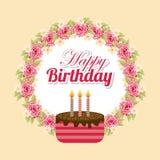Diseño del feliz cumpleaños ilustración del vector