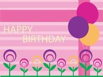 Diseño del feliz cumpleaños Imagenes de archivo