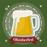 Diseño del festival de Oktoberfest con el ilustration del vectot del icono Imagen de archivo libre de regalías