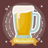 Diseño del festival de Oktoberfest con el ilustration del vectot del icono Imagenes de archivo