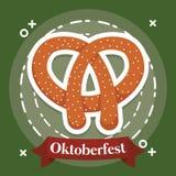 Diseño del festival de Oktoberfest con el ilustration del vectot del icono Fotografía de archivo libre de regalías