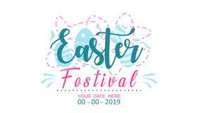 Diseño del festival de Pascua para la promoción stock de ilustración