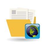 Diseño del fichero Medios icono social Concepto en línea Imagenes de archivo