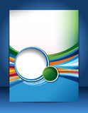 Diseño del folleto Fotos de archivo libres de regalías