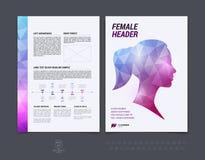Diseño del folleto, aviador, cubierta, folleto y templat de la disposición del informe Imágenes de archivo libres de regalías