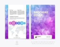 Diseño del folleto, aviador, cubierta, folleto y templat de la disposición del informe Imagen de archivo libre de regalías