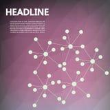 Diseño del folleto con el fondo Atención sanitaria, biotecnología Imagen de archivo