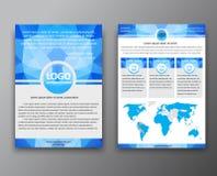Diseño del folleto con el fondo poligonal Imagenes de archivo