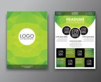 Diseño del folleto con el fondo poligonal Foto de archivo libre de regalías